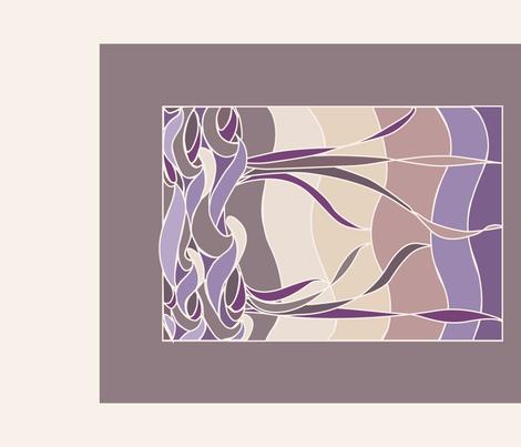 Batik Sunset Marsh teatowel fabric by mina on Spoonflower - custom fabric