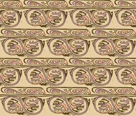 Inca Dragon fabric by woodledoo on Spoonflower - custom fabric