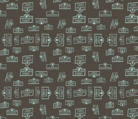Derry City Streets Grey- Large fabric by cherryandcinnamon on Spoonflower - custom fabric