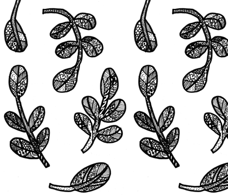 shrubs doodle  fabric by mimi&me on Spoonflower - custom fabric