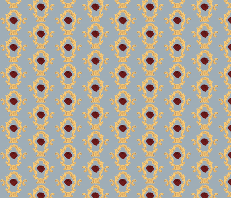 Baroque_1_mirror_and_rose-ed fabric by kanamithedreamer on Spoonflower - custom fabric