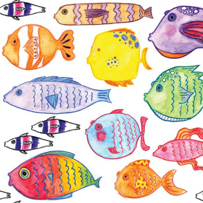 Watercolor Fishies