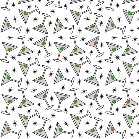 Martini Time fabric by andibird on Spoonflower - custom fabric