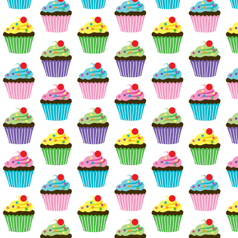 Cupcake Love fabric by andibird on Spoonflower - custom fabric