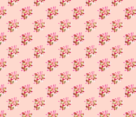 China Rose in pink fabric by joanmclemore on Spoonflower - custom fabric