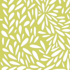 yellow-green and white pebbled leaves
