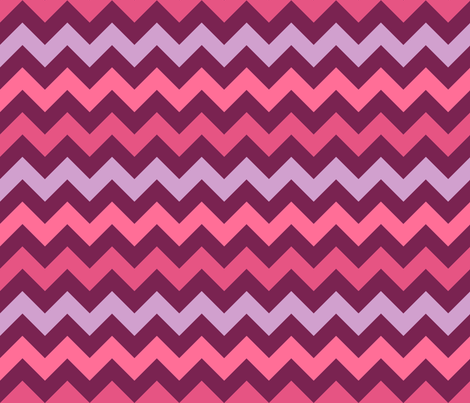Monster Chevron - Girly - Large fabric by jesseesuem on Spoonflower - custom fabric
