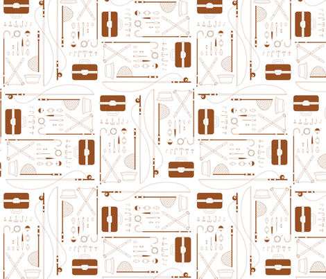 Hook, Line and Sinker fabric by jmckinniss on Spoonflower - custom fabric
