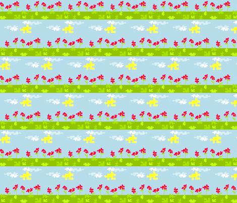 Puzzle Garden fabric by ninjaauntsdesigns on Spoonflower - custom fabric