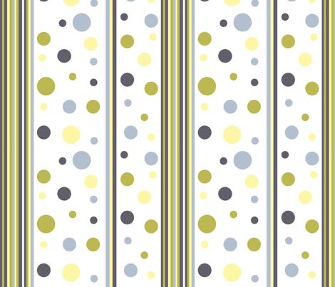 Dots&Stripes fabric by createdgift on Spoonflower - custom fabric