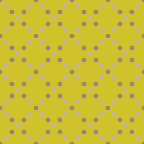 Dots grey-gold 1/2 size