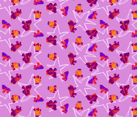 roller derby fabric by jenr8 on Spoonflower - custom fabric