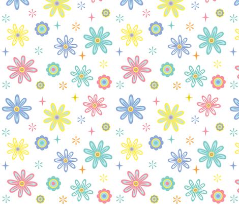 Happy Flowers fabric by andibird on Spoonflower - custom fabric