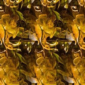 vine leaves intermingled