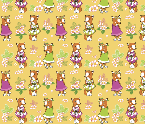 Foxy summer fabric by peikonpoika{by}brunou on Spoonflower - custom fabric