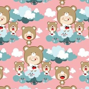 Kawaii Bears eat clouds