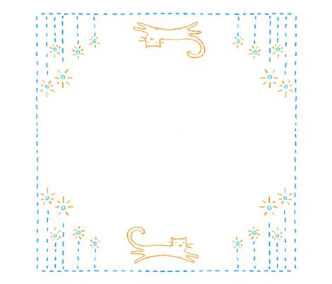 garden cat fabric by alison-castaldo on Spoonflower - custom fabric