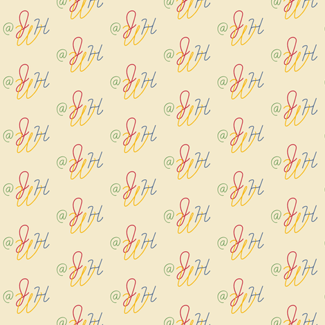 J W Hotmail fabric by captiveinflorida on Spoonflower - custom fabric