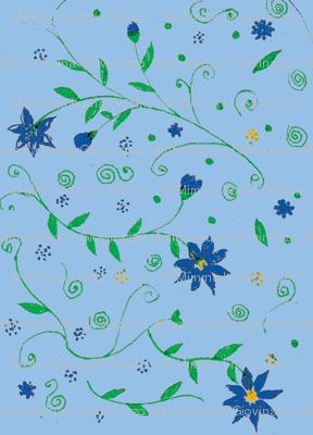 blue garden  blue flowers