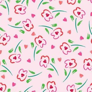 Hearts in Flowers