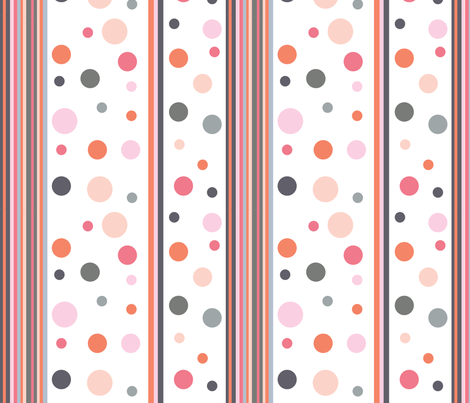 dots_stripesPink1 fabric by createdgift on Spoonflower - custom fabric