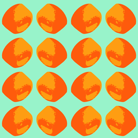 orange wheels fabric by jenr8 on Spoonflower - custom fabric