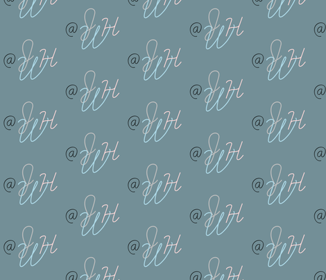 Lovely Letters fabric by captiveinflorida on Spoonflower - custom fabric