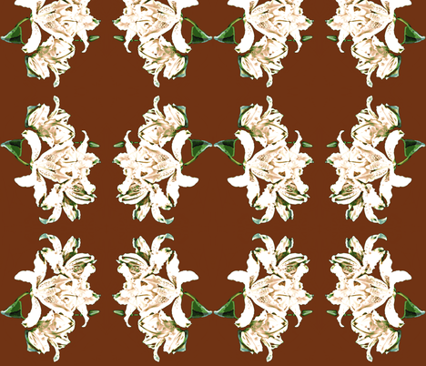 White Lilies fabric by robin_rice on Spoonflower - custom fabric