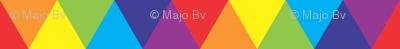 rainbow 3D triangles