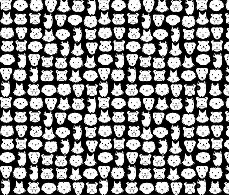 Petits chiens en lignes fabric by kobaitchi on Spoonflower - custom fabric