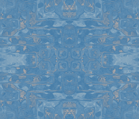 Blue Spring Abstract Art © 2011 Gingezel Inc. fabric by gingezel on Spoonflower - custom fabric