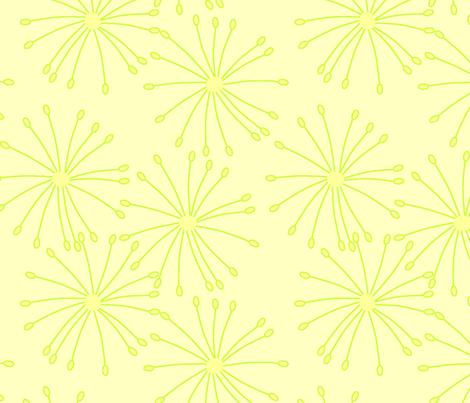 yellow blooms fabric by slkanitz on Spoonflower - custom fabric