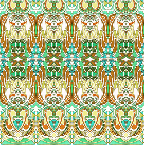 Angels in the Rafters fabric by edsel2084 on Spoonflower - custom fabric