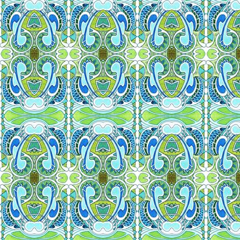 Nouvelle Nouveau Deco mash up fabric by edsel2084 on Spoonflower - custom fabric