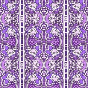 Purple Spring Tapestry Stripe