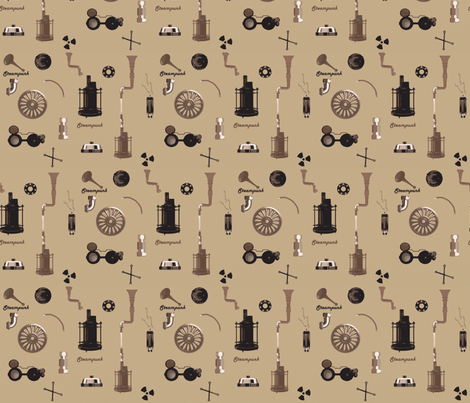 Invention Attention fabric by uptown_girl on Spoonflower - custom fabric