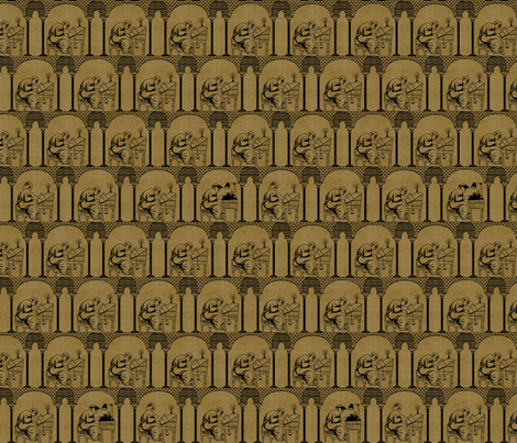 What's That Noise (Parchment) fabric by glimmericks on Spoonflower - custom fabric