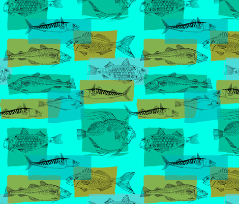Sea Fishing fabric by woodledoo on Spoonflower - custom fabric