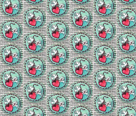 zentangle_e_dove_e_cuore fabric by vinkeli on Spoonflower - custom fabric