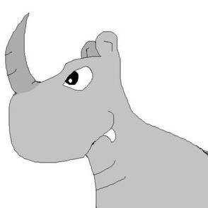 cartoon Rhino, rhinocerous