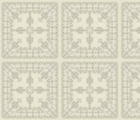 Crayon-lace fabric by adranre on Spoonflower - custom fabric