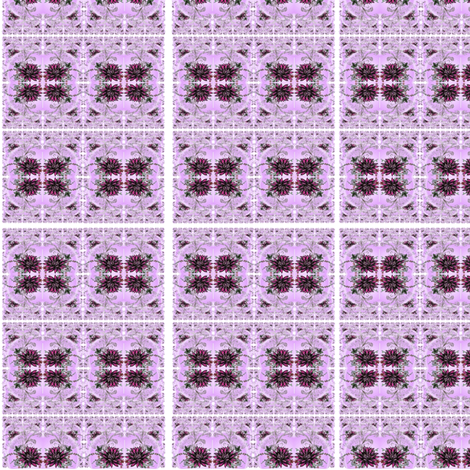 Red lotus pink background kaleidoscope fabric by vinkeli on Spoonflower - custom fabric