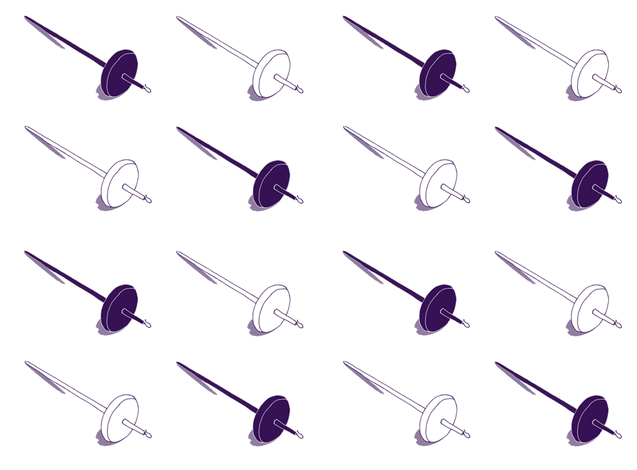 Purple Drop Spindles fabric by 2bannab on Spoonflower - custom fabric