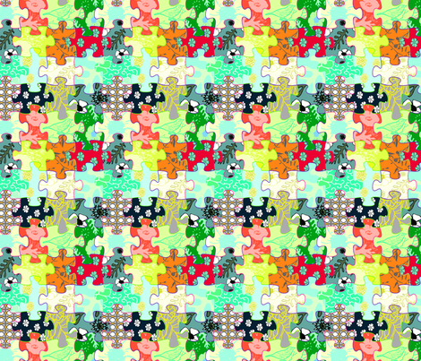 puzzle fabric by caresa on Spoonflower - custom fabric