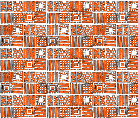 Tribal in Russet fabric by delsie on Spoonflower - custom fabric