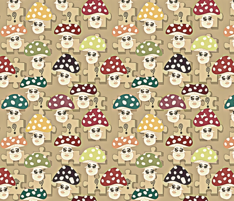 ©2011 Find the Hidden Objects-1950s Colors fabric by glimmericks on Spoonflower - custom fabric