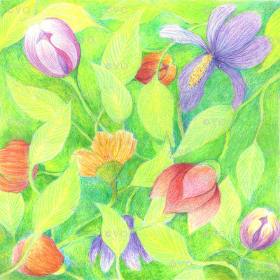 Spring floral napkin/pillow kit