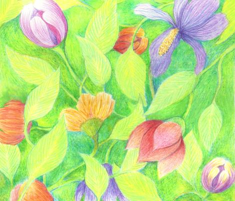 Spring floral napkin/pillow kit fabric by vo_aka_virginiao on Spoonflower - custom fabric