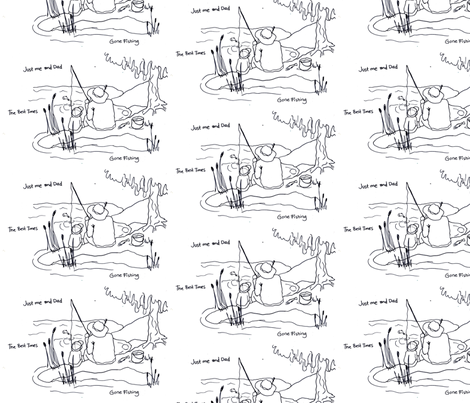 Fishing with dad fabric by 7monsters_t_inc on Spoonflower - custom fabric
