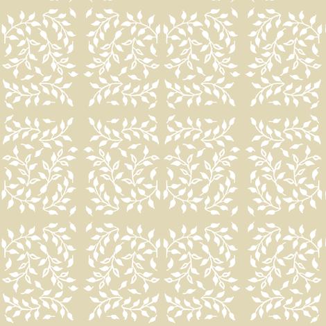Leafy_field_white_SAND fabric by mina on Spoonflower - custom fabric
